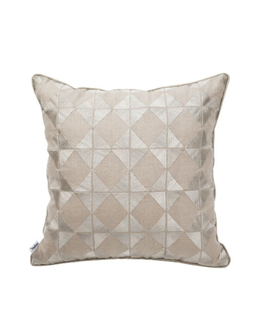 ANCIENT TEMPLES/A16 0085/TAUPE/OUVRAGE/50x50cm CUSHION COVER