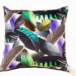 ROYAL LUXE/B18 0316/PINE, NAVY/LAGOON, ADORE, QUILL/50X50CM CUSHION
