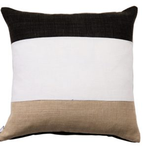 NATURE/B18 0333/BLACK,WHITE,BEIGE/SALTINAT/50X50CM CUSHION