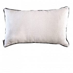NATURE/B18 0377/HAVEN/WHITE NAVY PIPING/50x30cm CUSHION COVER