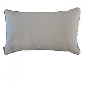 NATURE/B18 0378/HAVEN/BEIGE NAVY PIPING/50x30cm CUSHION COVER