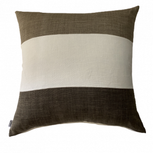 NATURE/B18 0386/SULTANAT/TAUPE-WHITE-CARBONE/60x60cm CUSHION COVER
