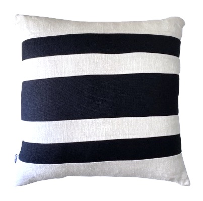 COASTAL HAVEN/SULTANAT NAVY/WHITE 50x50cm Cushion Cover F21 0416