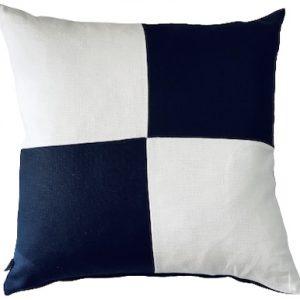 COASTAL HAVEN/SULTANAT NAVY/WHITE 60x60cm Cushion Cover F21 0417