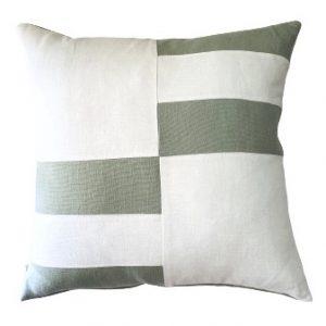 COASTAL HAVEN/SULTANAT SAGE/WHITE 60x60cm Cushion Cover F21 0421