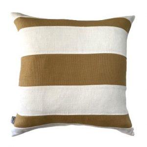 COASTAL HAVEN/SULTANAT MUSTARD/WHITE 60x60cm Cushion Cover F21 0423