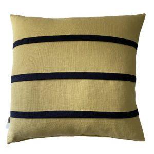 COASTAL HAVEN CORN/NAVY 60x60cm Cushion Cover
