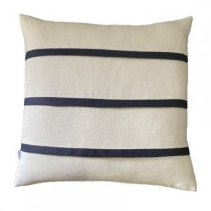 COASTAL HAVEN OYSTER/NAVY 60x60cm Cushion Cover